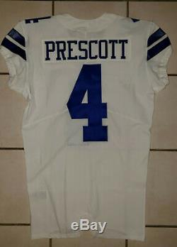 Dallas Cowboys Dak Prescott 2017 Nike Home Team Issued Game Issued Jersey