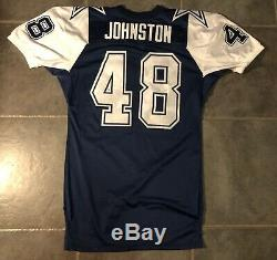 Dallas Cowboys Daryl Johnston Game Issued 1994 Nike Jersey Double Star Stitched