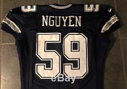 Dallas Cowboys Dat Nguyen Nike game Issued 1997 Jersey Sz 50 L