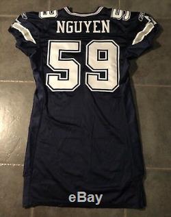 Dallas Cowboys Dat Nguyen Reebok game Issued 2005 Jersey Sz 50 L+6