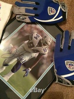 Dallas Cowboys Demarcus Ware game used towel and gloves Autographed with photo