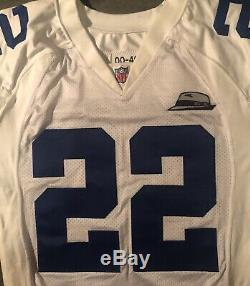 Dallas Cowboys Emmitt Smith 2000 game issued jersey with Tom Landry patch Nike