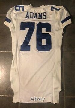Dallas Cowboys Flozell Adams Game Worn Jersey 2000 Stitched Nike Landry Patch
