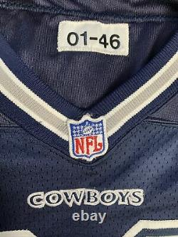 Dallas Cowboys Game Issued Authentic Jersey, Reebok Navy Blue Away Road, Sz 46