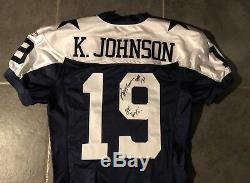Dallas Cowboys Game Issued Keyshawn Johnson Jersey 2004 Throwback Autographed