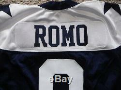 Dallas Cowboys Game Jersey Authentic Tony Romo Throwback Jersey Size 52 L. B