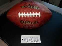 Dallas Cowboys Game Used Football Emmitt Smith Rushing Record Game Possibl Match