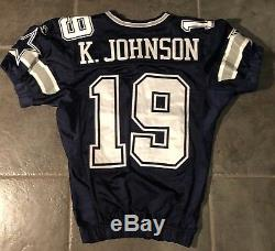 Dallas Cowboys Game Used Keyshawn Johnson Reebok Jersey 2005 Provagroup