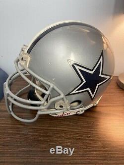 Dallas Cowboys Game Used Worn NFL Riddell Helmet Skill Position Face Mask