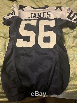 Dallas Cowboys Game Worn Jersey Bradie James 01/06 Dallas Vs NY Giants