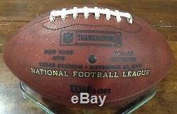 Dallas Cowboys Jason Witten 82 Thanksgiving Ball Game Used Presentation Football