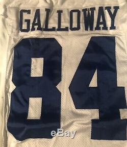 Dallas Cowboys Joey Galloway game Issued Nike 2000 jersey Tom Landry Hat Patch