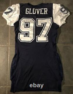 Dallas Cowboys LaRoi Glover Reebok game Worn 2002 Autographed Jersey Sz 48 +6