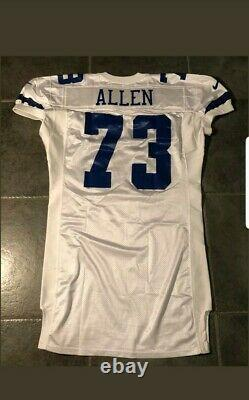Dallas Cowboys Larry Allen game issued 1999 Nike Jersey Sz 52+7 LB