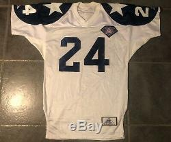 Dallas Cowboys Larry Brown 1994 Apex Game IssuedJersey Super Bowl MVP Autograph