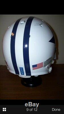 Dallas Cowboys Marcus Spears game used helmet. Cowboys COA