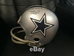Dallas Cowboys Mel Renfro Signed Inscr My Super Bowl XII Game Used Helmet LOA