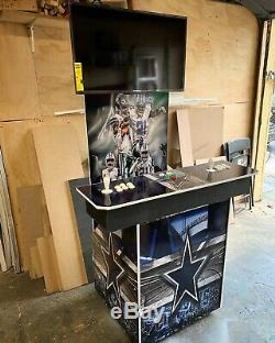 Dallas Cowboys NFL Retro Arcade Machine Pedestal 7000 Games
