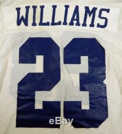 Dallas Cowboys Robert Williams #23 Game Issued White Jersey