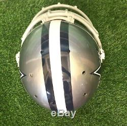 Dallas Cowboys Schutt Authentic Game Used Full Size Football Helmet