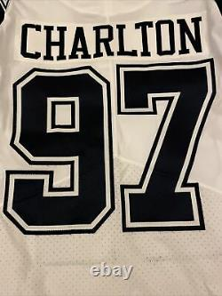 Dallas Cowboys Team Game Issued Taco Charlton #97 Color Rush Double Star Jersey