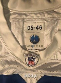 Dallas Cowboys Terry Glenn game Worn Jersey 2005 season by Reebok Wetrak Cert