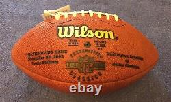 Dallas Cowboys Thanksgiving 11/28/2002 Vs Redskins Game Football Wetrak