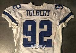 Dallas Cowboys Tony Tolbert Game Issued Worn 1994 Apex Jersey Sz 52