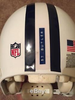 Dallas Cowboys Victor Butler game used throwback helmet. Steiner COA