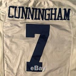 Dallas Cowboys game Issue Cunningham 2000 jersey with Tom Landry Hat patch sz 50