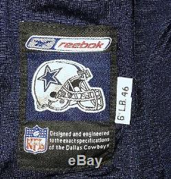 Dallas Cowboys game Issued Dexter Coakley 2001 Reebok Jersey Sz 46L Autographed