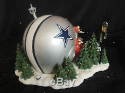 Danbury Mint Dallas Cowboys Game Day At Santa's Christmas Collectible