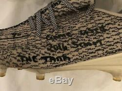 Demarcus Lawrence Dallas Cowboys Autographed Game Used YEEZY Cleats JSA COA