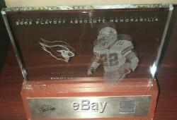 EMMITT SMITH 2003 Playoff Absolute Mem Etched Glass Game Worn SHOES SP LE /125