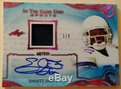 EMMITT SMITH-2019 Leaf In The Game (#1/4) JERSEY/AUTO/AUTOGRAPH GEM-MINT 1/1