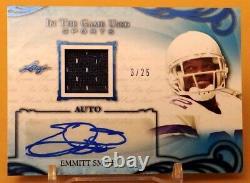 EMMITT SMITH-2019 Leaf In The Game (#3/25) JERSEY/AUTO/AUTOGRAPH GEM-MINT