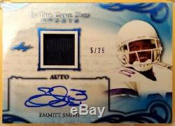 EMMITT SMITH-2019 Leaf In The Game (#5/25) JERSEY/AUTO/AUTOGRAPH GEM-MINT