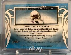 EMMITT SMITH 2019 Leaf In The Game Used Auto #22/25