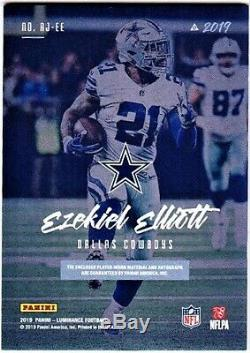 EZEKIEL ELLIOTT 2019 PANINI LUMINANCE 2 COLOR GAME PATCH AUTO # 10/10 Cowboys