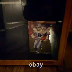 Emmitt Smith Cowboys custom framed signed authentic game jersey Beckett COA