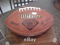 Emmitt Smith Dallas Cowboys Gators Signed Wilson Game Football Full Letter Jsa