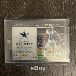 Ezekiel Elliott Auto 2017 Panini Certified /25 Fabric Of The Game Patch