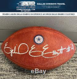 Ezekiel Elliott Autographed Dallas Cowboys Blue Star Game Ball