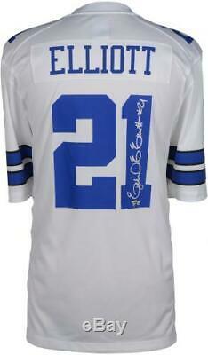 Ezekiel Elliott Dallas Cowboys Autographed White Nike Game Jersey