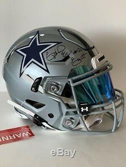 Ezekiel Elliott Signed Dallas Cowboys Game Style Speed Flex Helmet