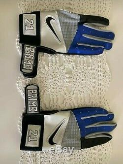 Game Used Deion Sanders Dallas Cowboys Custom Made Gloves