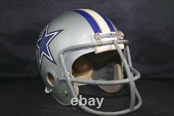 Game Used Worn Football Helmet Vtg Gladiator GHH Hydra Flo DALLAS COWBOYS