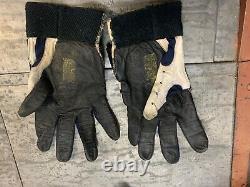 Game worn/issued/used deion sanders football gloves nike dallas cowboys