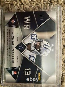 HUGE 11 Card Michael Gallup Game Used and Auto RC Lot -Dallas Cowboys