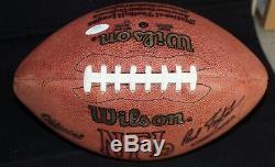 JOE WILLIE NAMATH Signed NFL Game FOOTBALL + JSA COA G72021 Deflated Air Bladder